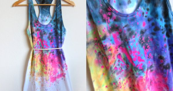 DIY splash dye instead of tie dye!