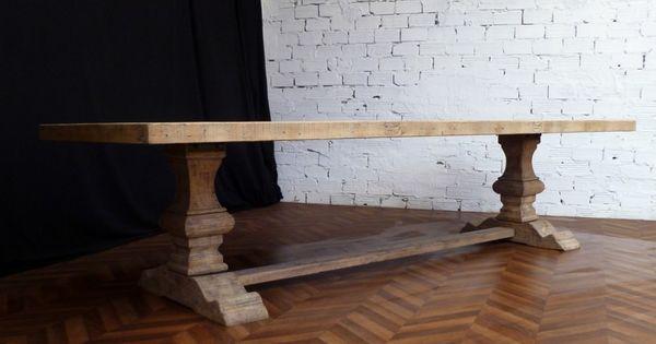 grande et belle table de ferme monastère en bois brut naturel de