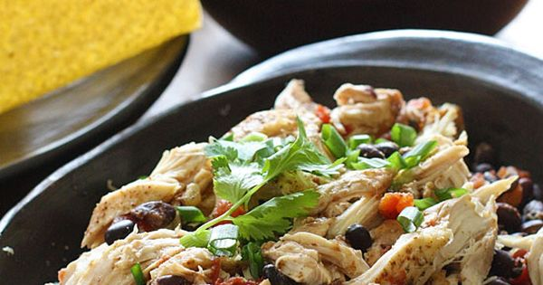 Slow Cooker Chicken Black Bean Tacos | Skinnytaste This easy taco recipe