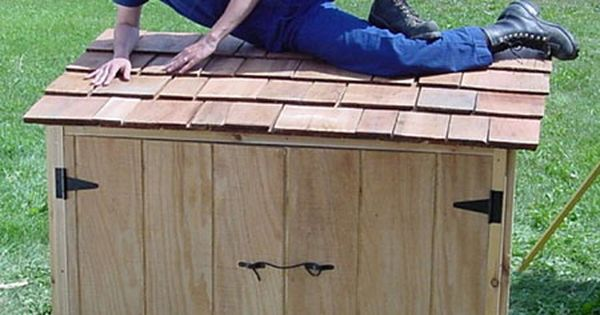 1000 Images About Garbage Can Shed On Pinterest: Outdoor Garbage Shed