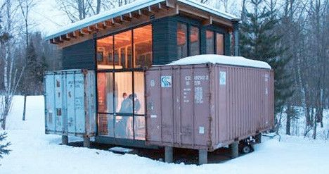 9 Unique Alternative Housing Ideas Including Using Shipping Containers Shipping Container House Plans Shipping Container Cabin Shipping Container Home Designs