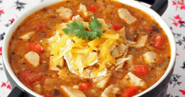 Tex-Mex Chicken and Rice Soup .... | Sumptuous Soups, Chowders ...