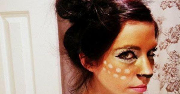 Deer makeup halloween makeup facepaint costume