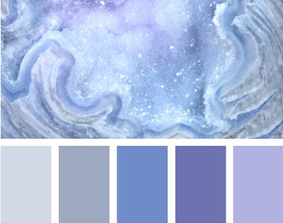mineral blues - I like the second for the bedroom, maybe another