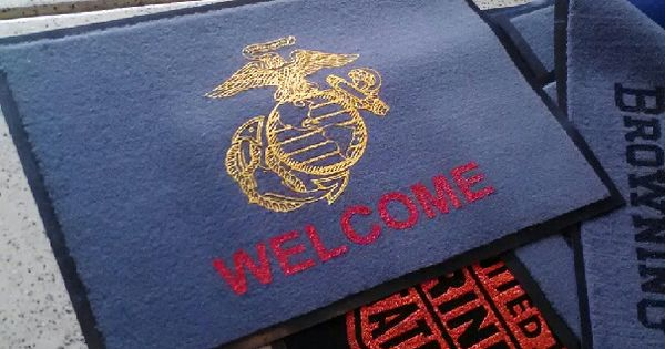 Usmc Man Cave Ideas : Marines mat military man cave flooring and ideas