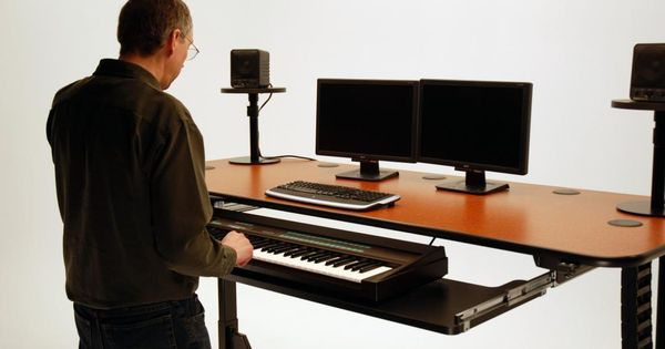 Ergo Music Height Adjustable Music Production Desk