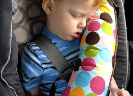 DIY Seat Belt Pillow, made these for the kids super easy sewing