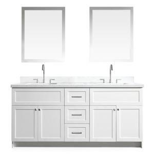 Ariel F073d Ab In 2020 Double Sink Vanity Black Granite Countertops Vanity Sink