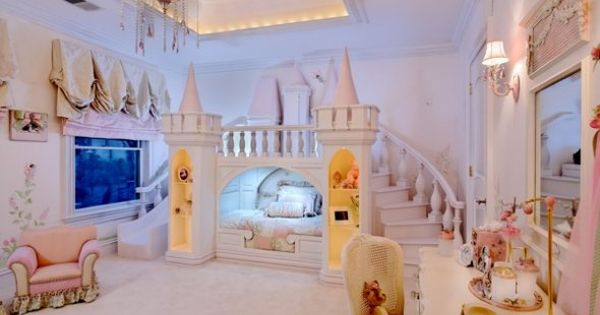 Princess bedroom. my poor future daughter will have everything i ever wanted,