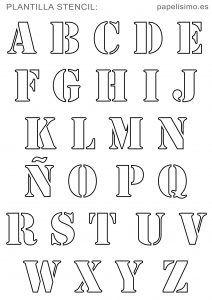 Plantillas Abecedario Stencil Para Imprimir Alphabet Font Tipos De Letras Abecedario Plantillas De Letras Letras Para Imprimir