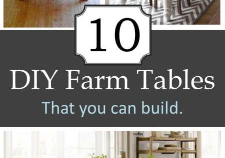 10 DIY Farm Tables and 100's of other FREE Plans...always wanted a