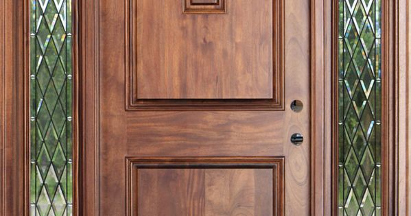 Chestnut Stain Color On A Mahogany Entrance Door Bought