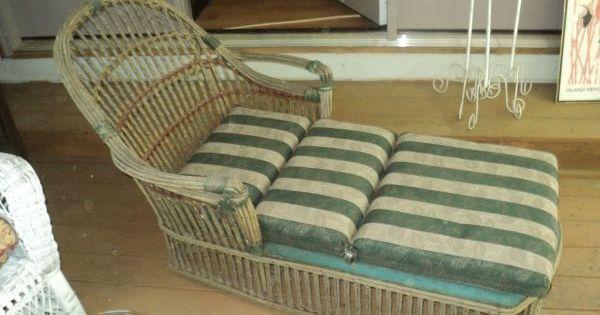 Vintage Rattan Chaise Lounge 65 Craigslist Stuff