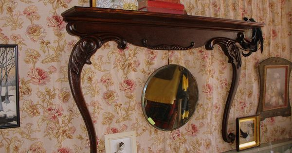 Re Purposed Shelf Built From A Harp Shaped Dresser Mirror