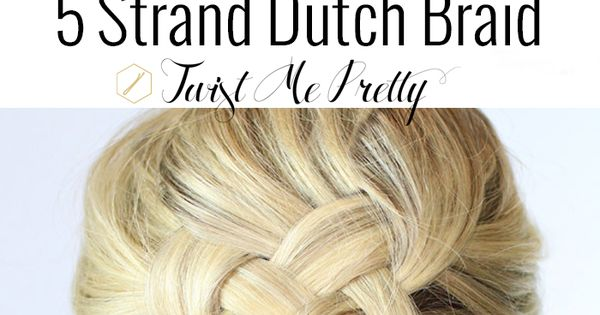 """strand dutch braid on yourself"" Hope you like the hair style!!!!"