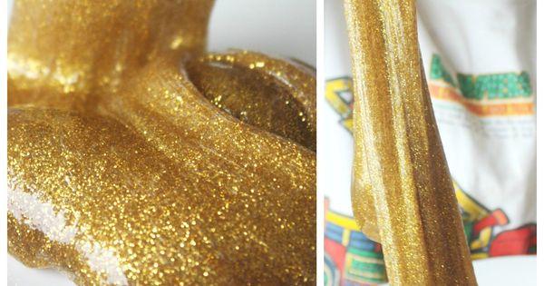 Gold Slime Recipe Glitter Glue Slime Sensory Play ...