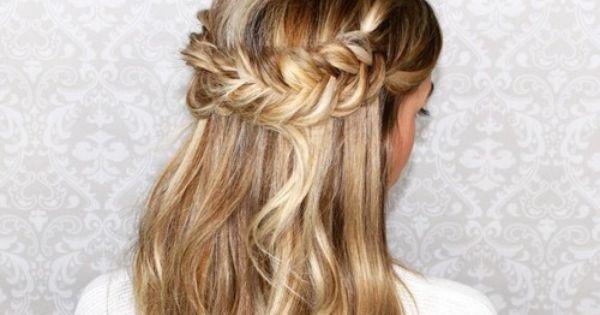 3 id es de coiffures pour aller un mariage cheveux coiffures pinterest coiffures canon - Coiffure mariage detache ...