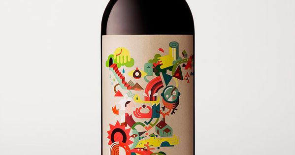 cool wine bottle label | Wine by Joan Josep Bertran (Illustration by