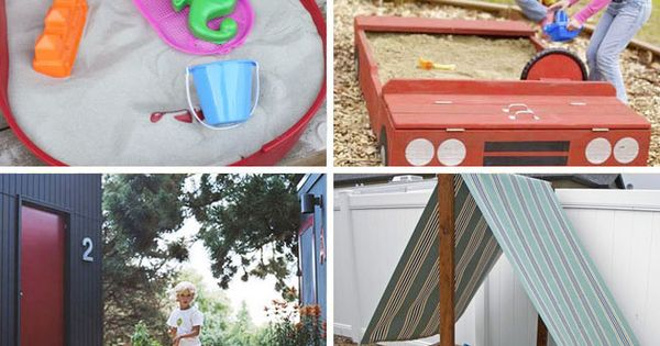 25 DIY sandbox ideas! LOVE all of these!