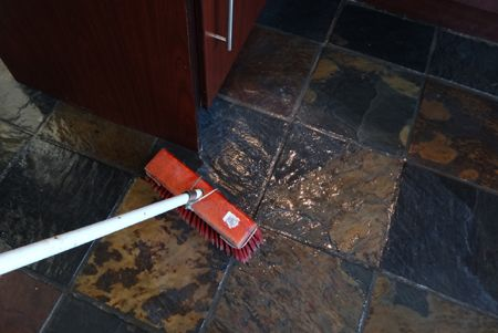 Tiled Floor To Remove Excess Wax Polish