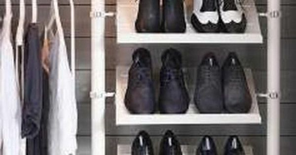 diy regal f r schuhe viele schuhe aufbewahrung pinterest dressing room organizations and. Black Bedroom Furniture Sets. Home Design Ideas