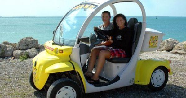 Key West 2 Seater Electric Car Rental Car Rental Key West Key