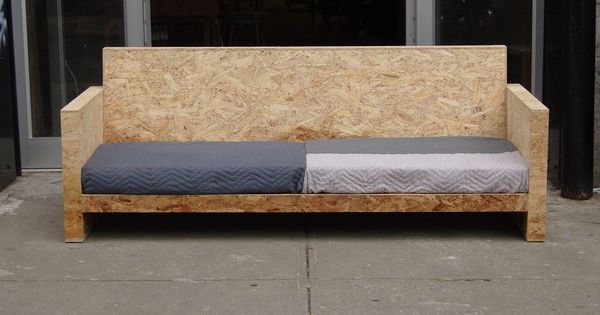 Osb sofa d co atelier pinterest tutoriels urgences for Table exterieur osb