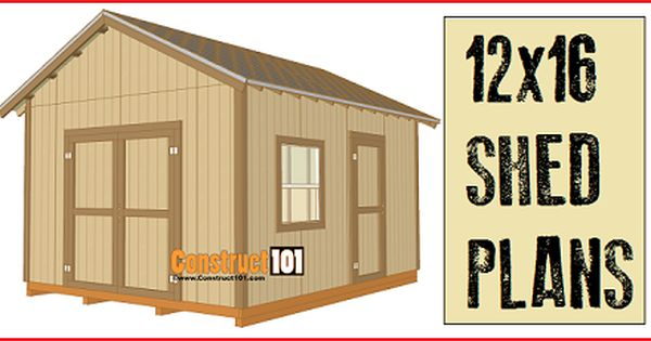 Do It Yourself Home Design: 12x16 Shed Plans, Free Online Version And Free
