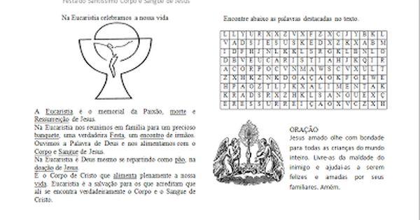 Corpus Christi Com Imagens Catequese Corpus Christi