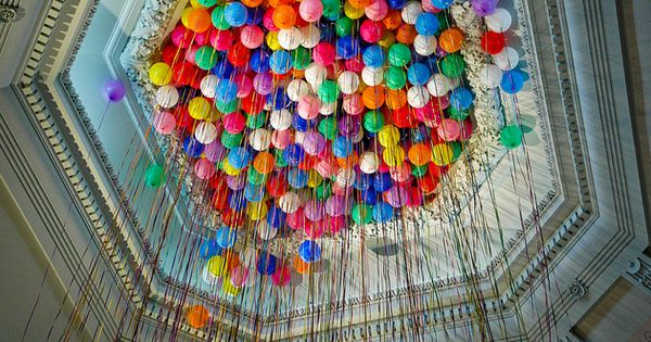 celebratecolorfully balloon ceiling