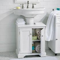 Weatherby Bathroom Pedestal Sink Storage Cabi| Pedestal sink