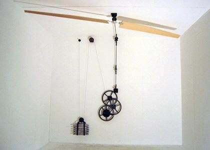 Non Electric Ceiling Fans Belt Driven Perpetual Motion Urban