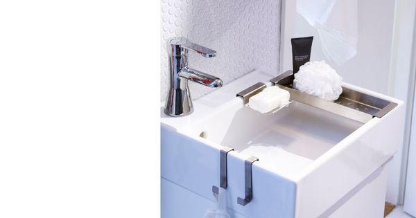 Meuble lavabo avec lavabo porte serviettes porte savon for Porte serviette salle de bain ikea