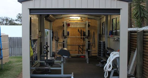 Shed Workout room