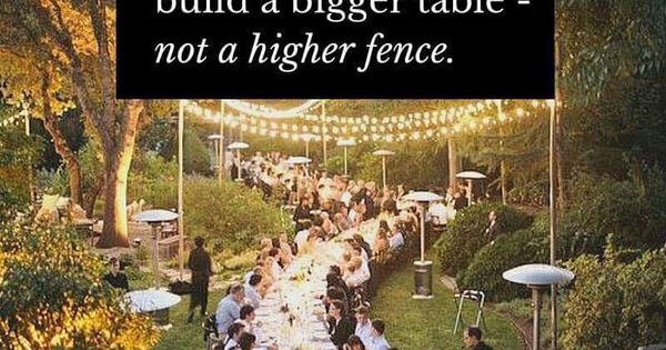 When You Have More Than You Need Build A Bigger Table
