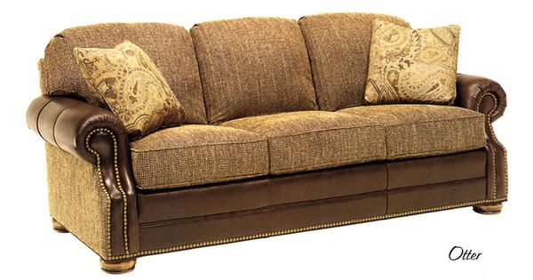 Leather fabric sofa trail blazers furniture prettty for A p furniture trail