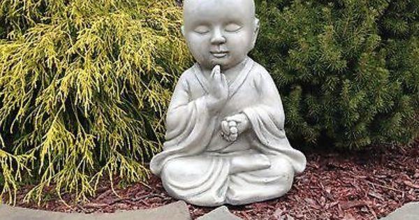 meditating zen buddist monk baby buddha garden statue figurine 14 buddha garden and garden. Black Bedroom Furniture Sets. Home Design Ideas