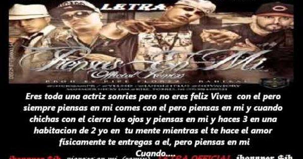 Piensas En Mi Remix Nicky Jam Ft Jory Yelsid Luigy 21 Letra 2012 New Reggaeton Jh Youtube Reggaeton Youtube Musica