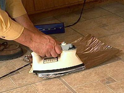 How To Fix Curling Vinyl Floor Tile Vinyl Flooring Diy Home Repair Vinyl Flooring Kitchen