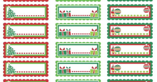 christmas address labels colorful christmas labels in a pdf template ready to print download. Black Bedroom Furniture Sets. Home Design Ideas