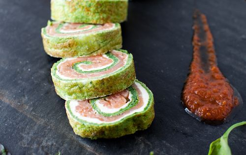Spinach and Basil Smoked Salmon Roll The recipe looks a bit complicated,