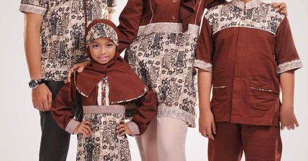 Gambar Baju Couple Muslim Batik Keluarga Terbaru | DESAIN BAJU MUSLIM ...
