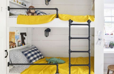 Best Fun Built In Bunk Bed Idea For Small Spaces Kid Spaces 640 x 480