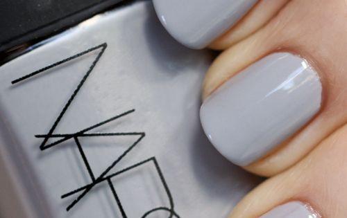 NARS Galathee nail polish swatch NARS Fury and Galathée Nail Polish for