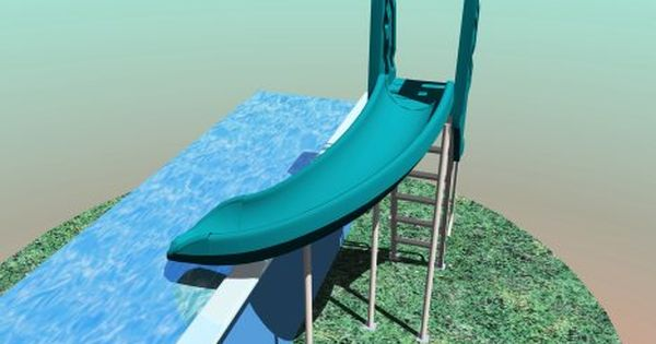 Above ground pool slide outdoor ideas pinterest best for Above ground pool slide ideas