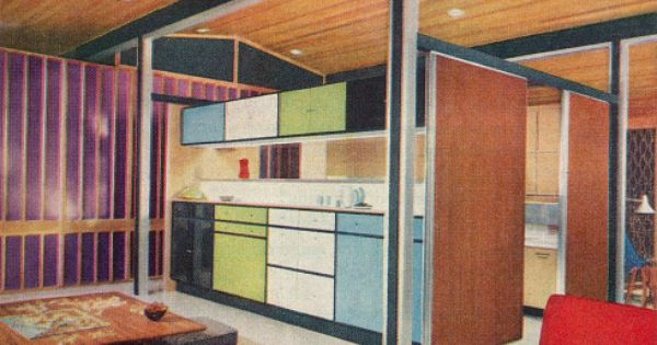 Your 1957 Dream House Made Real Alcoa Care Free Home Model Homes Modern Architecture House Mid Century House