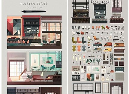 صور ديكورات داخلية للمصممين Design Resources Scene Creator Sene