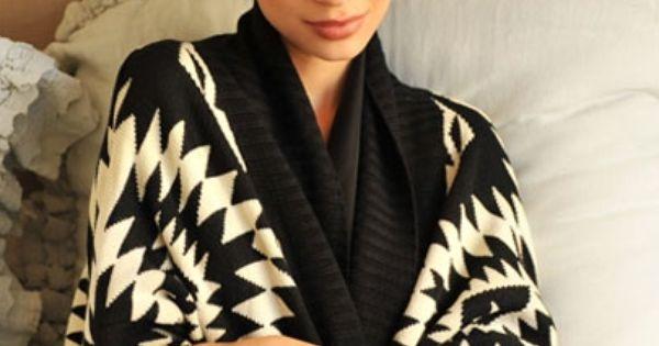 azteca cardigan - love cozy sweaters!