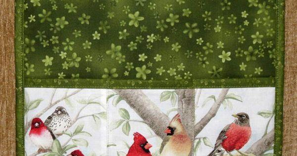 Armchair Caddy Bedside Caddy Remote Holder Birds By