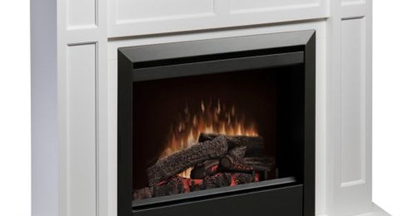 Dimplex Caprice Free Standing Electric Fireplace In White Dimplex